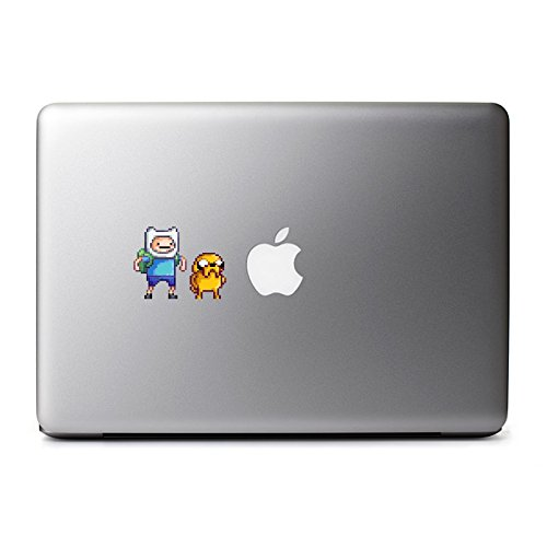 Retro 8-Bit Finn and Jake Adventure Time Decals from The Legend of Zelda for MacBook, iPhone 5S, Samsung Galaxy S3 S4, Nexus, HTC One, Nokia Lumia, Blackberry