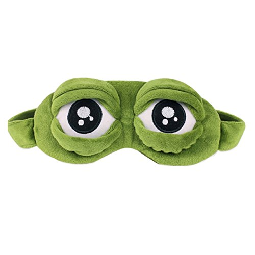 Frog Eye Mask for Sleeping Creative Cartoon Fluff Eyeshade Funny Gift Anime