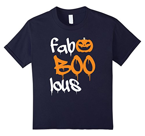 Homemade Costume Face No (Kids Faboolous Fab-Boo-Lous Funny Halloween Pumpkin Face T Shirt 4)