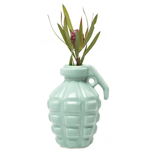 Chive - Kapow Fun Porcelain Grenade Shape Simple Modern Flower Bud Vase (Mint Green)