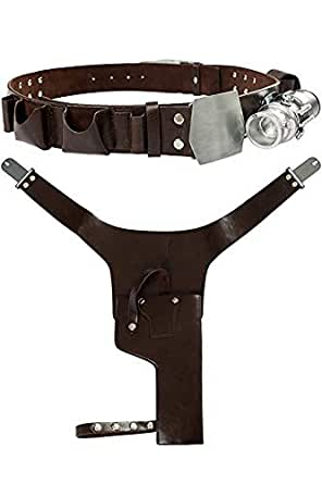 Mutrade Solo Belt with Buckle Holster PU Prop for Cosplay Costume Accessory,Medium