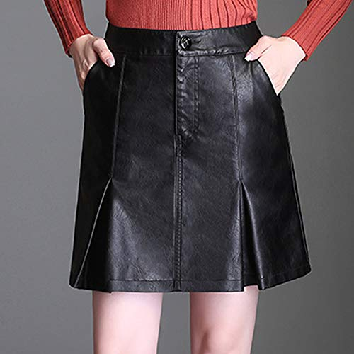 FS619 Girl Noir Crayon Cuir PU Jupe Grande Club Mini Bodycon E Taille 75qwfdA7
