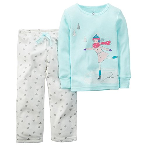 carters-baby-girls-2-piece-cotton-fleece-pajama-set-24-months-ice-skater