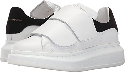 Alexander McQueen Womens Hook-and-Loop Oversized Sneaker White/Black l0CYczk