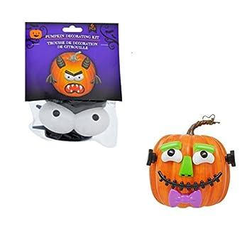 Pumpkin Decorating Craft Kits Plastic Push In No Carving 2 Sets Each Boy Bat