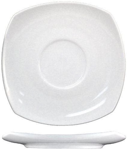 ITI-QP-2 Quad 5-3/4-Inch Square Saucer, 36-Piece, White by ITI