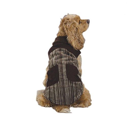(Zack & Zoey Polyester/Cotton Corduroy Ranch Dog Coat, XX-Large, Chocolate)