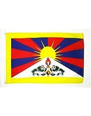 Tibetaanse vlag 150x90 cm - Tibetaans-boeddhistische vlaggen 90 x 150 cm - Banner 3x5 ft Hoge kwaliteit - AZ FLAG