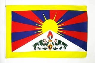 AZ FLAG Drapeau Tibet 150x90cm - Drapeau tibétain 90 x 150 cm - Drapeaux