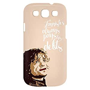 Loud Universe Samsung Galaxy S3 Lannister Always Pays His Debts Print 3D Wrap Around Case - Multi Color