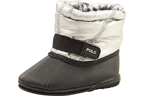 Polo Ralph Lauren Boots Whistler Infant Boy's Silver Shoes Sz: 3