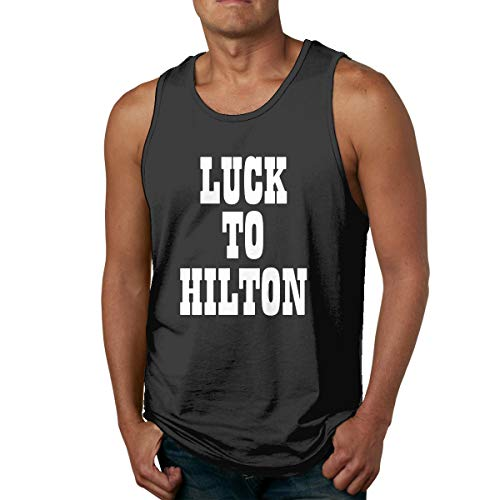 Moore Me Men's Sleeveless Tank Top Shirts Blue Indianapolis Luck to Hilton Cotton Gym Vest Casual Sport T-Shirts