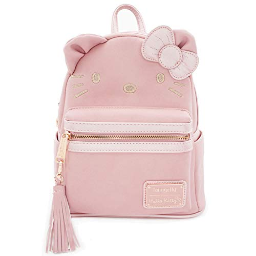 Loungefly x Sanrio Hello Kitty Face Metallic Mini Backpack (One Size, Pink)