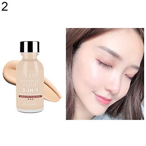 wewa98698 KIMUSE Waterproof Liquid Foundation Oil Control Concealer Face Contour Base Makeup Primer for Women - Apricot