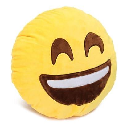Amazon.com: Amarillo suave cojín redondo con forma de ...
