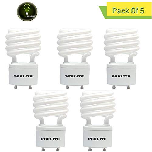 Tube Energy Wiser Compact - Perlite Lighting (Pack of 5) CF23WW/GU24/E 23-Watt T2 COIL CFL Energy Wiser 2700k GU24 Base 120-Volt Light Bulb