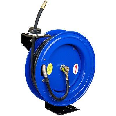 """Air Tools Cyclone Pneumatic CP3688 3/8"""" x 50' 300 PSI Retractable Air Compressor Hose Reel"""