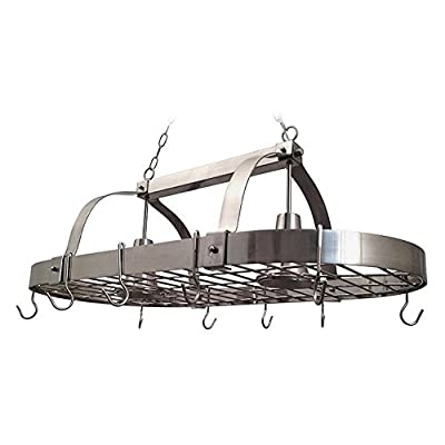 Elegant Designs Light Kitchen Pot Rack Home Collection 2 Light Kitchen Pot Rack with Downlightscopper