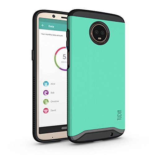Moto Z3 Play Case, Moto Z3 Case, TUDIA Slim-Fit Heavy Duty [Merge] Extreme Protection/Rugged but Slim Dual Layer Case for Motorola Moto Z3 Play (Mint)