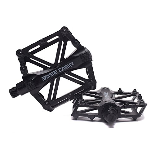 "ALLOY Black 9//16/"" Bike Bicycle Pedal for Track Fixie BMX MTB"
