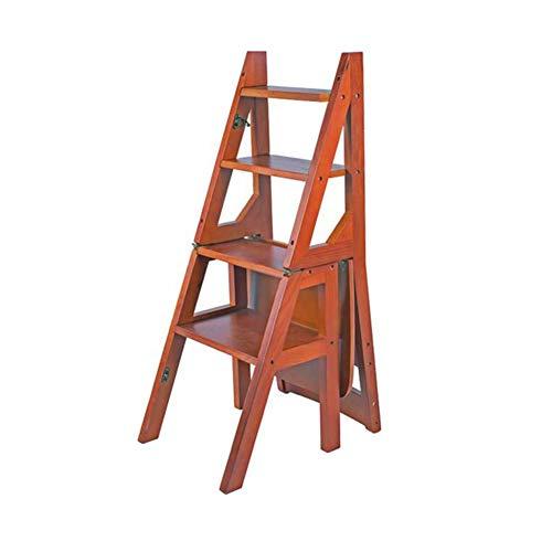 JIEER-C Silla de Oficina de Ocio Silla Silla Plegable Taburete Asientos Escaleras traseras 4 Pisos Estanteria Escalera Muebles Duradero Fuerte