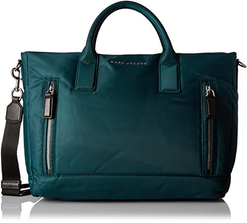 Nylon Tote Quilted Bag - Marc Jacobs Large Mallorca East/West Tote, Teal
