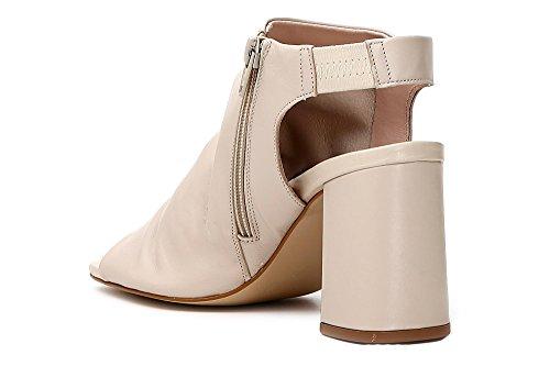 Skin CAF Nero Ankle Woman Noir CAFèNOIR Heel Boots Zip 010 Black Sandal LC428 RxaBqfBF