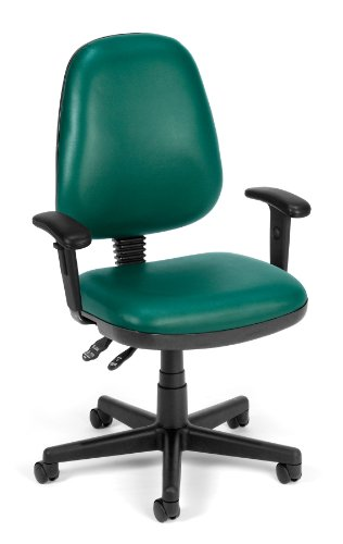 (OFM 119-VAM-602 Straton Series Vinyl Task Chair, Teal )