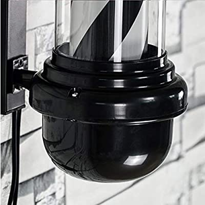 TENCMG LED Barber Pole - Black White Spinning Stripes Sign ...
