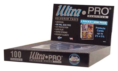 Ultra Pro 4-Pocket Platinum Page for Mini 2-Ring -