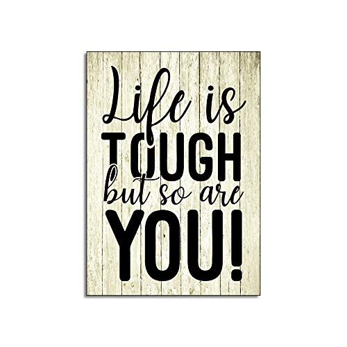 M1 Maise /& Rose Inspirational Fridge Magnet Life Is Tough But So Are You Kitchen Accessory