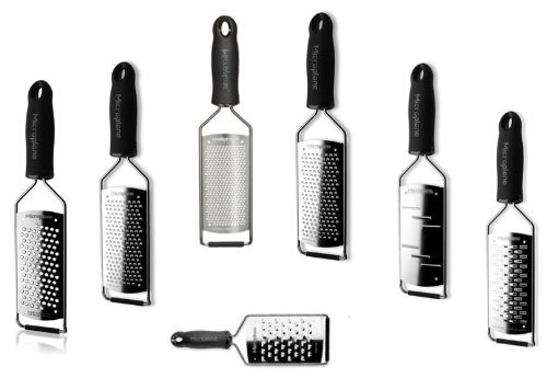 Microplane Gourmet Series Grater Set of 7 (Black Handle) by Microplane