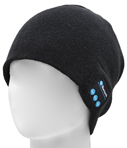 FULLLIGHT TECH 4.1 Bluetooth Beanie Hat Running Earphones Headphones Wireless Musical Knit Cap with Stereo Speakers & Mic Unique Christmas Tech gifts Winter hat for Women Men Teen Boys Young Girls (Gifts For Young Man)