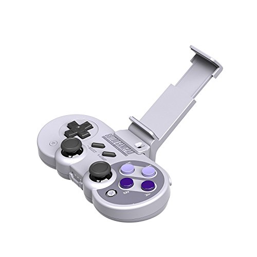 Nintendo Wii Sd Card Compatibility (HIOTECH Wireless Controller Bluetooh 8Bitdo SN30/SF30 Classic Video Game Joystick Gamepad for Android/iOS/Windows/Mac OS/Wii/Wii U/Switch (Gamepad + Stander))