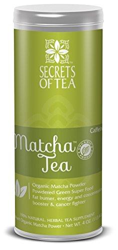 Matcha Green Tea by Secrets of Tea with Organic Matcha Tea Power Sourced from Japan – Premium Herbal Tea for Better Immunity, Boosts Metabolism   Premium Green Tea