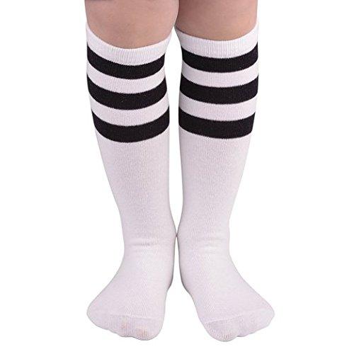 zando-cotton-casual-knee-high-triple-stripes-athletic-tube-socks-for-kids-a-white-w-black