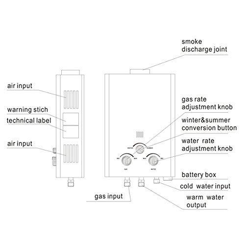 Tengchang 18L LPG Propane Gas Hot Water Heater Tankless Instant Boiler Digital Display Shower Home by Tengchang (Image #6)