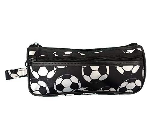(Soccer Camp Pencil Case Holder - Soccer Ball Pencilcase Pouch Gift Idea)