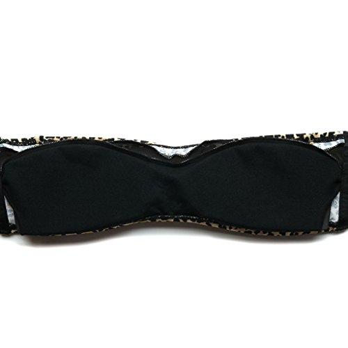 Colloyes Mujer Talle Alto Bikini Vestidos De Baño Verano Playa Traje Ropa Multi-estilo Retro Swimsuit 04-Leopard