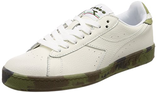 Diadora Game Low Waxed Camou, Sneaker Uomo, Bianco, 45 EU