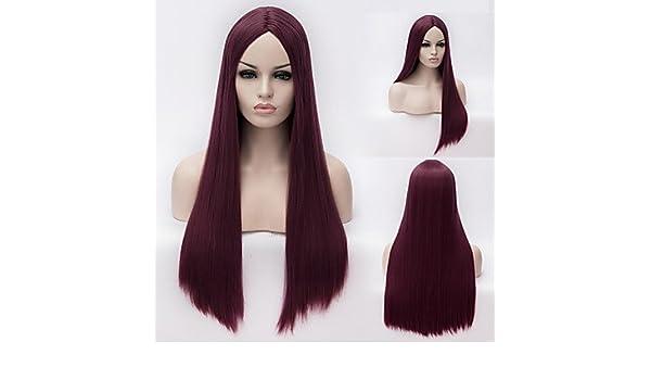 HJL-la Bella de alta calidad de alta temperatura modo de seda niña preparerà una peluca, fucsia: Amazon.es: Deportes y aire libre
