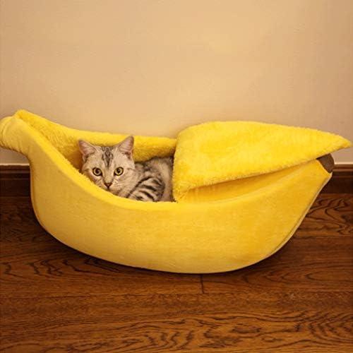 バナナキャットベッド/大型キャットハウス/かわいい犬のベッド/猫のベッド/犬のソファベッド/室内のペットベッド/ペットの睡眠ゾーン (Color : Grey, Size : XL80×30×20CM)