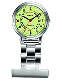 Lorus Stainless Steel LumiBrite Dial Nurse Fob Watch
