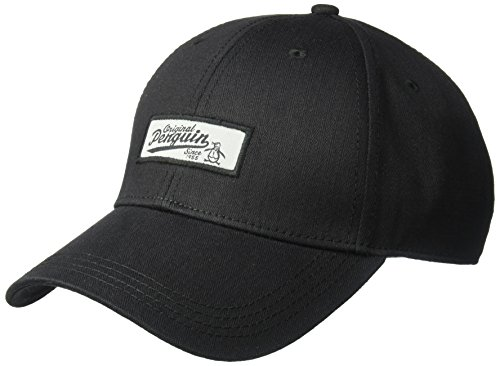 Original Penguin Men's Twill Baseball Cap with Patch, Black, OSFA
