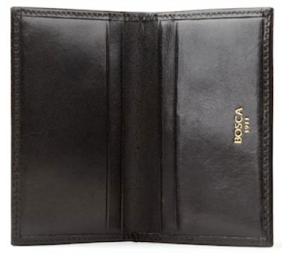 Bosca Old Leather Collection Card Case Black