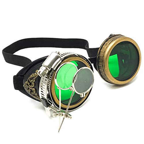 Handmade Steampunk Victorian Style Goggles with Vintage Filigree Decoration, Costume Novelty Accessory -