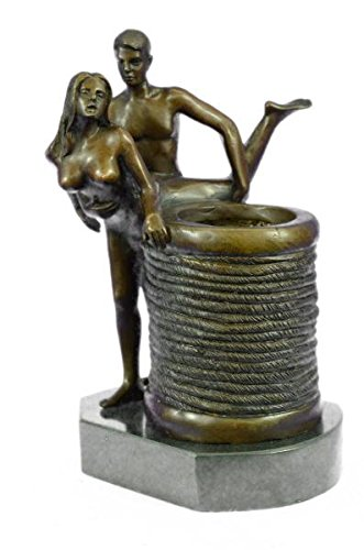 EUROPEAN BRONZE Lovely Erotic Sexual Sexy Sex two Couple Making Love Bronze Sculpture Hot Cast Figurine