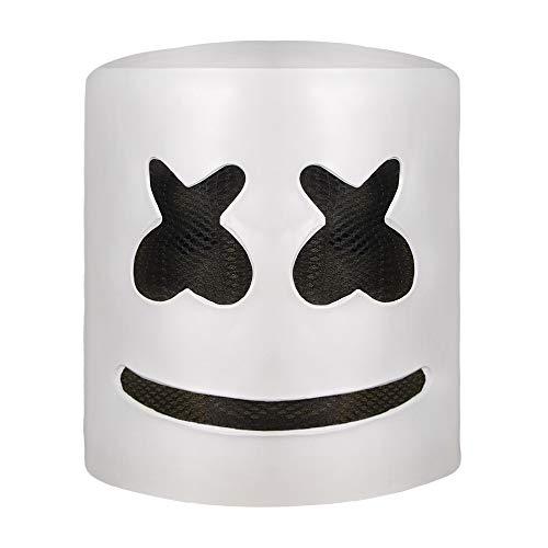 Marshmello DJ Mask, Music Festival Helmets, Latex Full Head Masks Halloween Party Props Costume Masks -