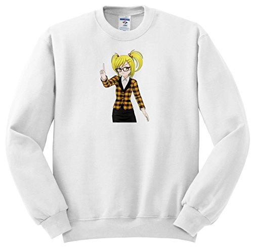 Sven Herkenrath Anime - Anime Manga Woman Girl with Glasses Cartoon Comic Character Japan - Sweatshirts - Adult SweatShirt Large - With Characters Cartoon Glasses