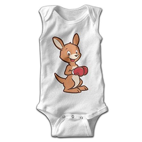 Kangaroo Costume Song (Cute Kangaroo Wearing Boxing Gloves Fashion Baby Boys & Girls Sleeveless Romper)